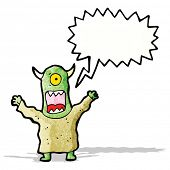 cartoon screaming monster