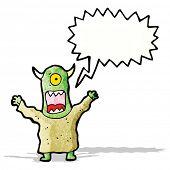 cartoon screaming monster