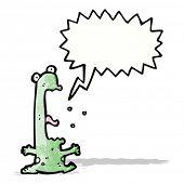 cartoon screaming frog