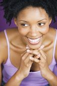 Close up of African woman smiling