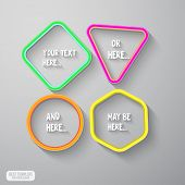 Vector simple frame.Abstract  sticker design