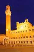 Campo Square and Mangia Tower, Siena, Italy