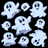 Ghost topic image 6 - eps10 vector illustration.
