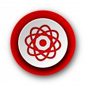 atom red modern web icon on white background
