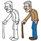 pic of grandpa  - grandpa cartoon illustration - JPG