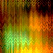 art abstract colorful zigzag geometric pattern background in gold, orange, brown and green colors
