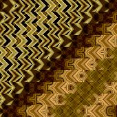 art abstract geometric horizontal stripes pattern background in black, beige and brown colors