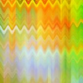 art abstract colorful zigzag geometric pattern background in gold, orange and green colors