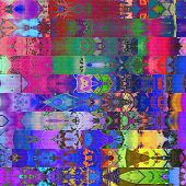 art abstract geometric horizontal stripes pattern textured background in gold and rainbow colors