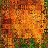 art abstract geometric horizontal stripes pattern background in red, gold, orange and brown colors