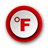 fahrenheit red modern web icon on white background