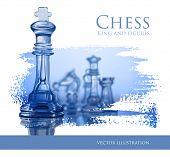 Blue Chess - vector illustration