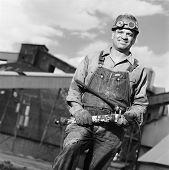 Portrait of male welder