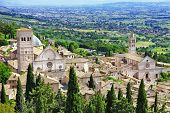 medieval town of Assisi, Umbria , Italy