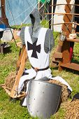 Knight armor on display during tournament reconstruction