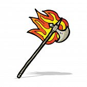 flaming medieval axe