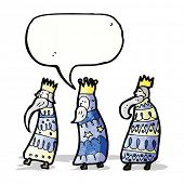 stock photo of three kings  - cartoon three kings - JPG