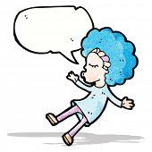 cartoon talking hippie girl