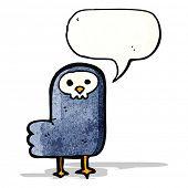 cartoon spooky raven