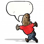 enthusiastic man cartoon