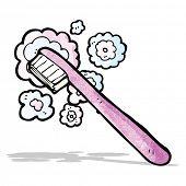 cartoon tooth brush