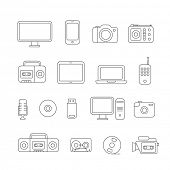 Different media devices collection. Design elements