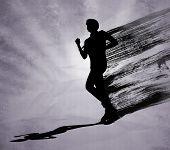 Runner Man Black Silhouette
