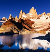 Mount Fitz Roy  in Los Glaciares National Park, Argentina
