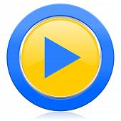 play blue yellow icon