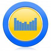 sound blue yellow icon