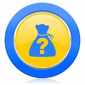 image of riddles  - riddle blue yellow icon   - JPG