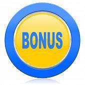 bonus blue yellow icon