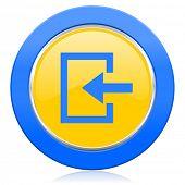 enter blue yellow icon