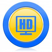 hd display blue yellow icon