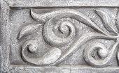 Wall Decorative Moulding Element Closeup
