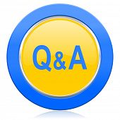 question answer blue yellow icon
