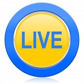 live blue yellow icon