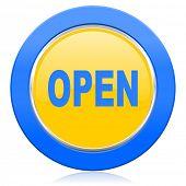 open blue yellow icon