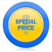 special price blue yellow icon