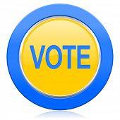 vote blue yellow icon
