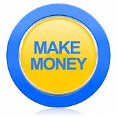make money blue yellow icon