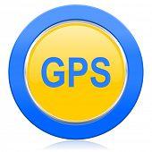 gps blue yellow icon