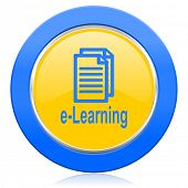 learning blue yellow icon