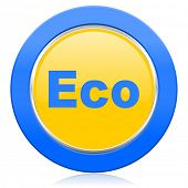 eco blue yellow icon ecological sign
