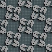 Seamless Bow Pattern. Vector Background. Gray Regular Texture