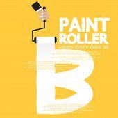 Paint Roller Alphabet B.