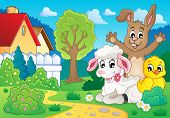 Spring animals theme image 2 - eps10 vector illustration.