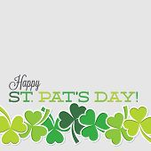 Line Of Shamrocks St. Patrick's Day Card In Vector Format.