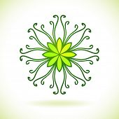 Flower ornament, Isolated design element, Vector illustration