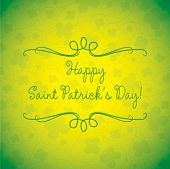 Swirl Typographic St. Patrick's Day Card In Vector Format.